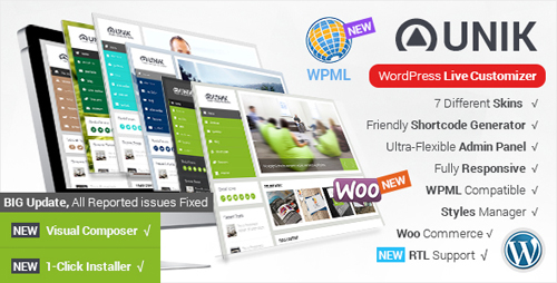 ThemeForest - Unik v1.8.7 - Responsive Multi-Purpose Theme - 7964836