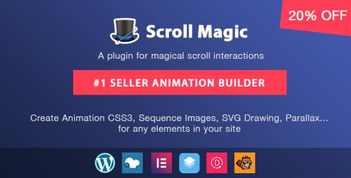 CodeCanyon - Scroll Magic Wordpress v3.3.1.1 - Scrolling Animation Builder Plugin - 19418234