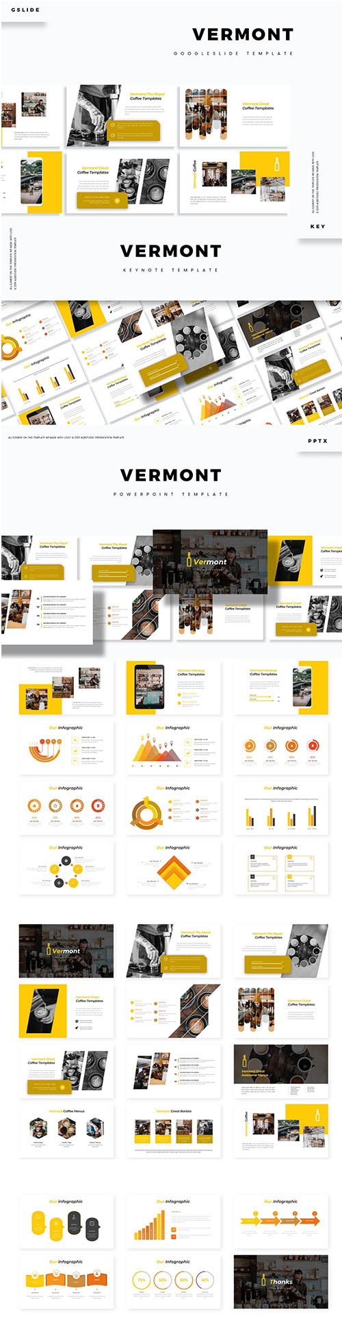 Vermont Powerpoint, Keynote and Google Slide Template