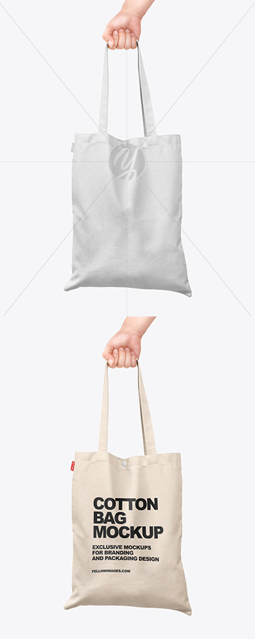 Cotton Bag in a Hand Mockup 61049