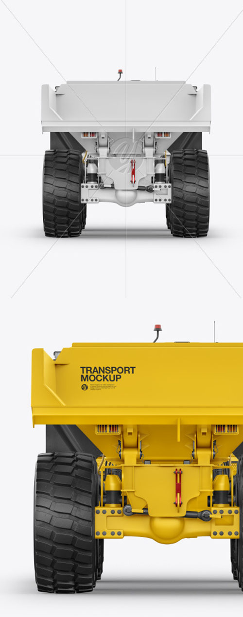 Articulated Hauler Mockup - Back View 61984