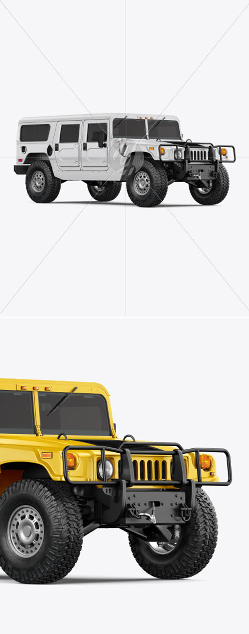 Off-Road SUV Mockup - Half Side View 55243