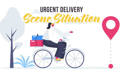 Urgent delivery - Scene Situation 27642958