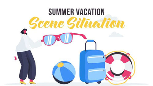Summer vacation - Scene Situation 27642920