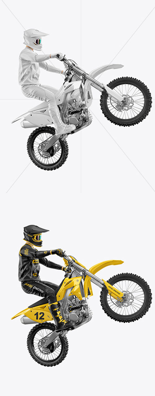 Motocross Racing Kit Mockup 58739
